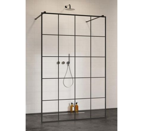 RADAWAY MODO NEW BLACK I FACTORY KABINA WALK-IN 130 cm